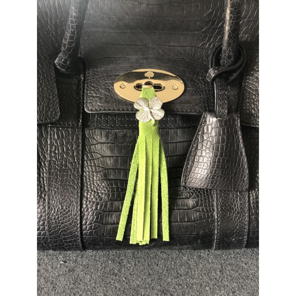 Tassel Envy Bag Tassels - Green Suede