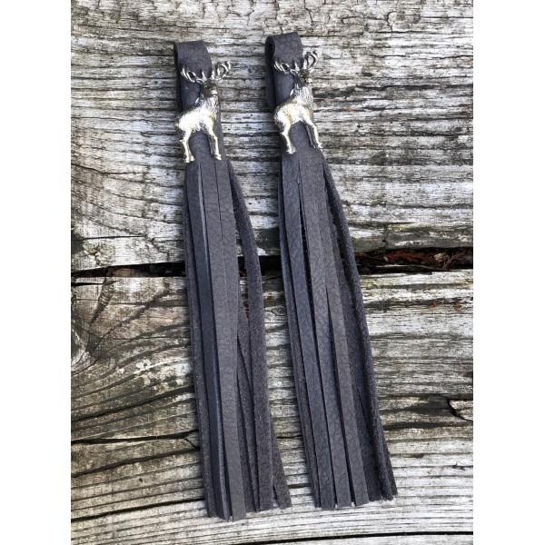 Tassel Envy Tassels - Charcoal Leather