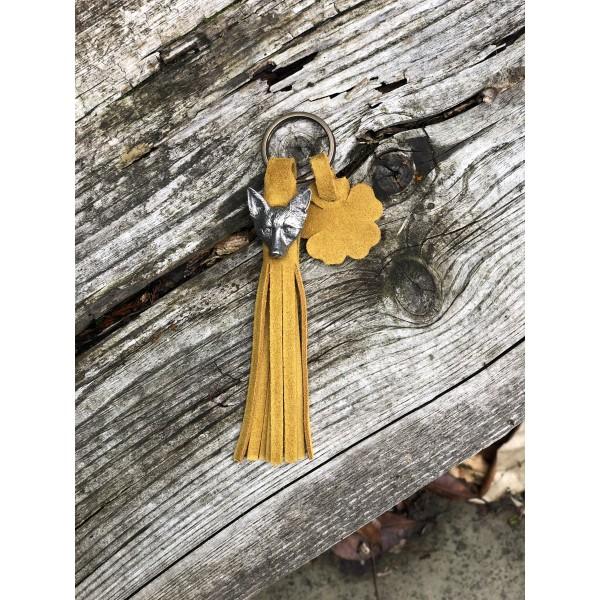 Tassel Envy Key Ring - Mustard Suede