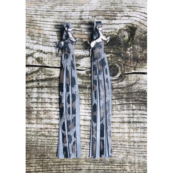 Tassel Envy Tassels - Leopard Grey Leather