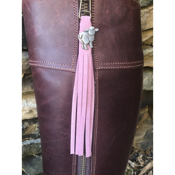Tassel Envy Tassels - Light Pink Suede