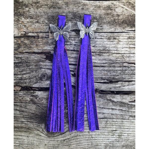 Tassel Envy Tassels - Purple Metallic Leather