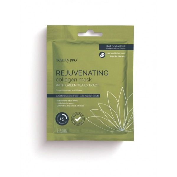 REJUVENATING Collagen Sheet Mask with Green Tea ex...