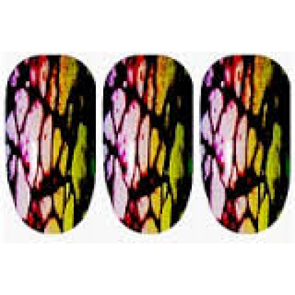 Ninxae Nail Wraps - Colourful Crackle