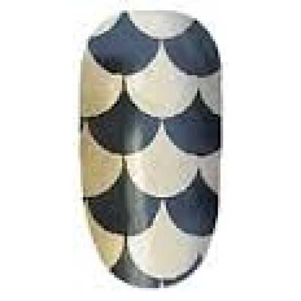 Ninxae Nail Wraps - Mini Harlequin Gold