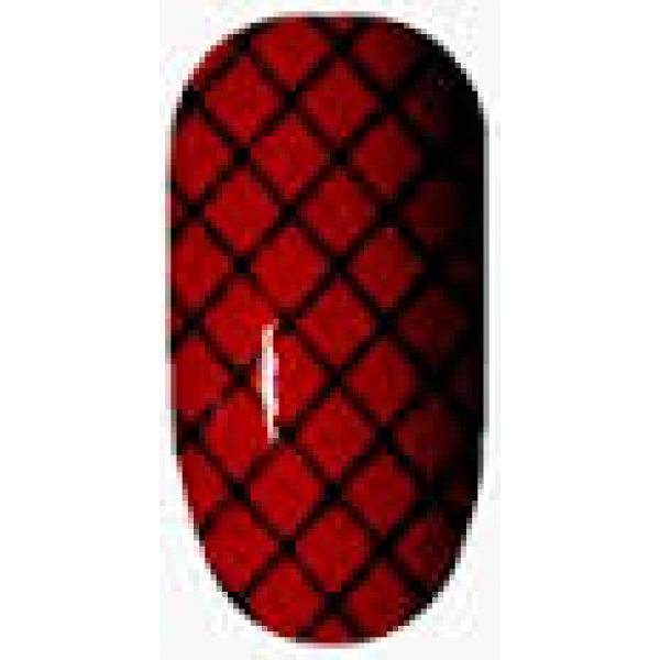 Ninxae Nail Wraps - Red & Black Fishnet