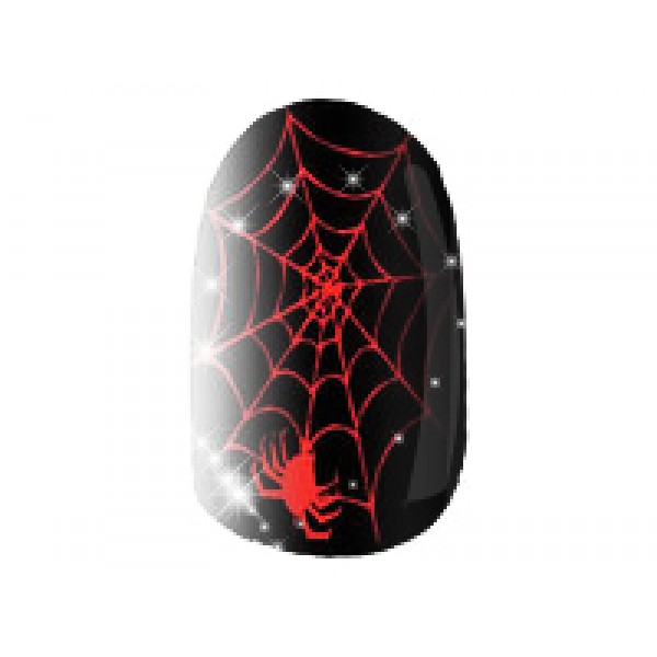 Black with Red Spiderwebs