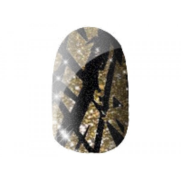 Gold Sparkle Jagged